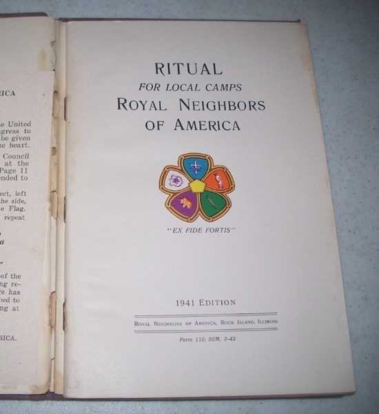 Ritual for Local Camps, Royal Neighbor of America: 1941 Edition, N/A