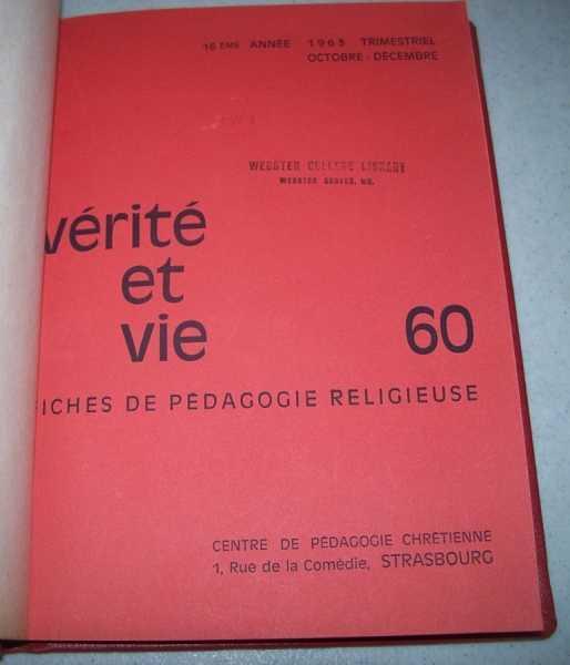 Verite et Vie: Fiches de Pedagogie Religieuse October-December 1963 #60, N/A