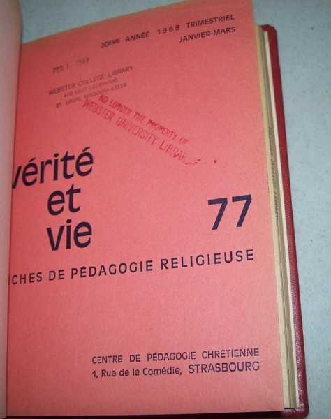 Verite et Vie: Fiches de Pedagogie Religieuse January-March 1968 #77, N/A