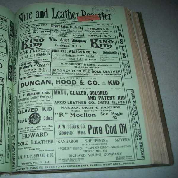 Shoe and Leather Reporter Volume 96, October-December 1909 Bound Together, N/A