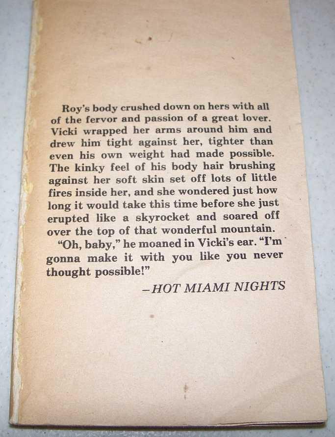 Hot Miami Nights, Richards, Faye