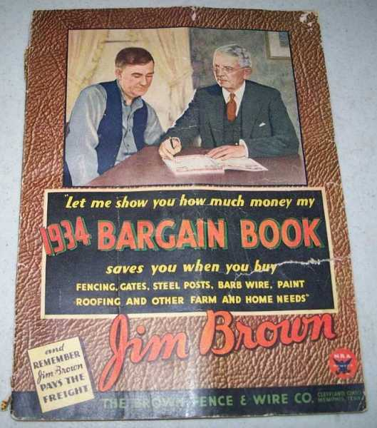 1934 Bargain Book: Jim Brown/The Brown Fence & Wire Co., N/A