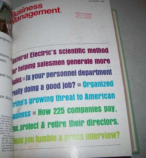 Business Management Magazine Volume 35, October 1968-March 1969, N/A