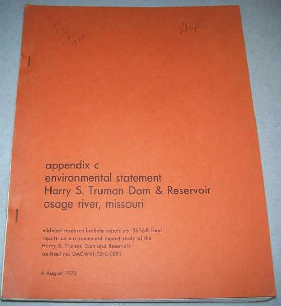 Appendix C: Environmental Statement Harry S. Truman Dam & Reservoir, Osage River, Missouri, N/A