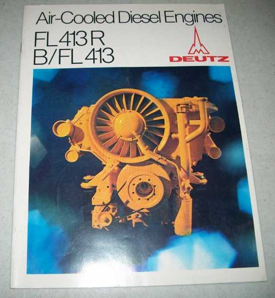Air-Cooled Diesel Engines: FL413R/B/FL413 (Deutz), N/A