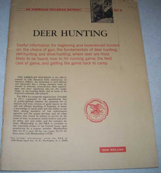 Deer Hunting: An American Rifleman Reprint, Various