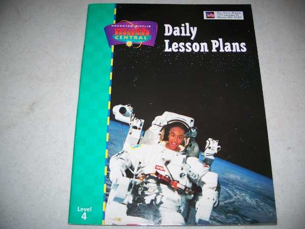 Daily Lesson Plans Level 4, Houghton Mifflin Math Central, N/A