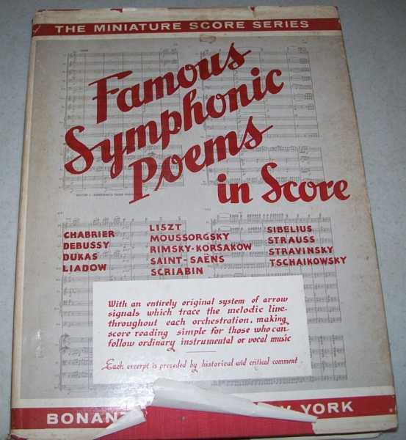 Famous Symphonic Poems in Score (The Miniature Score Series), Wier, Albert E. (ed.)