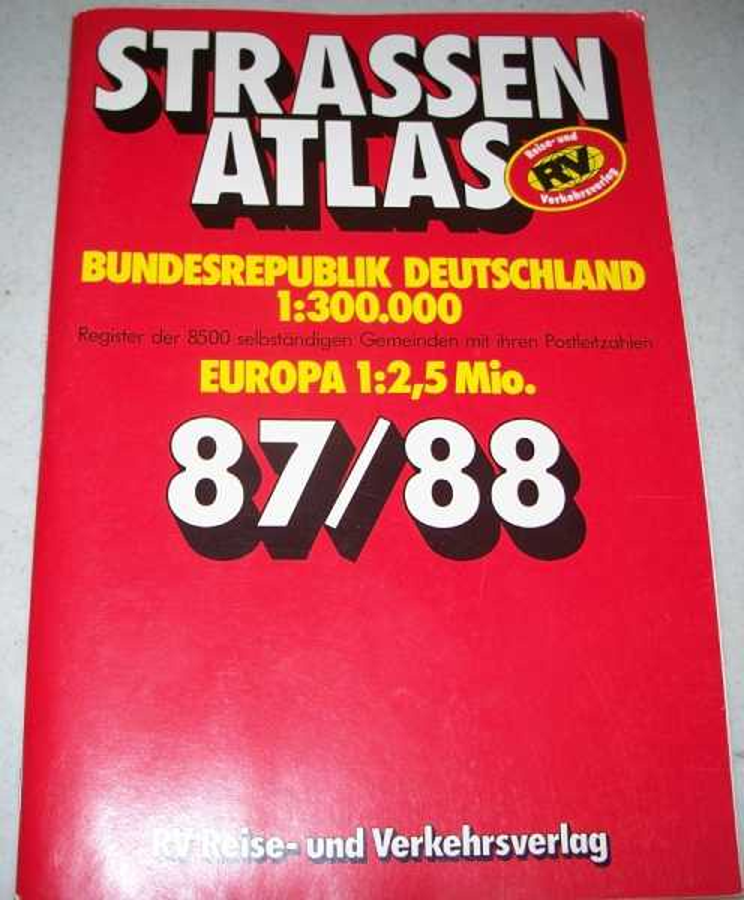 Strassenatlas 87/88: Bundesrepublik Deutschland 1:300,000, Europa 1:2,5 mio., N/A