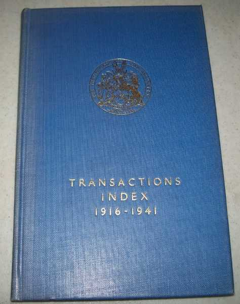 The Institution of Gas Engineers Index to Transactions 1916-1941, N/A