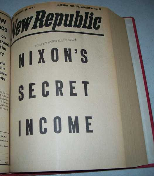 The New Republic: A Journal of Opinion Volume 127, July 7-December 29, 1952 Bound in One Volume, Various