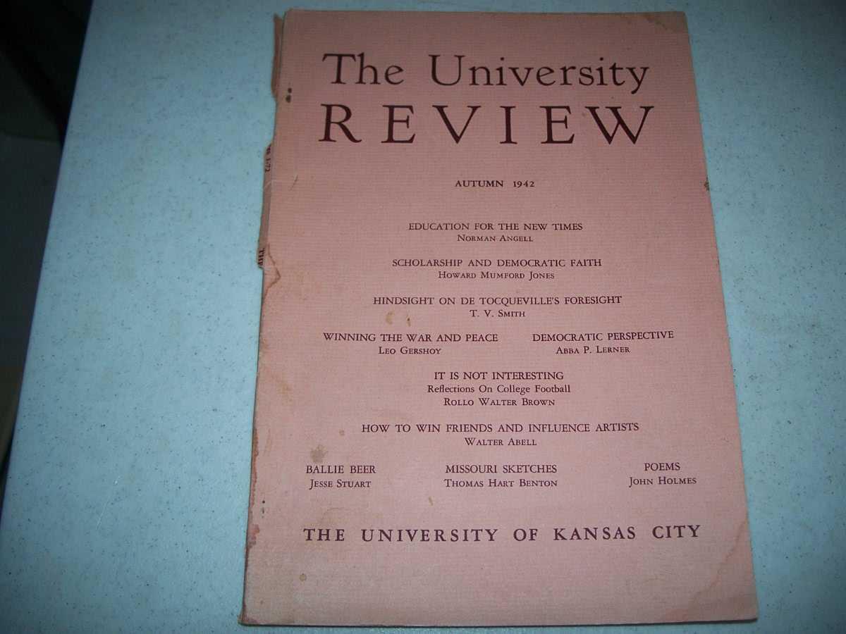 The University Review Autumn 1942, Various