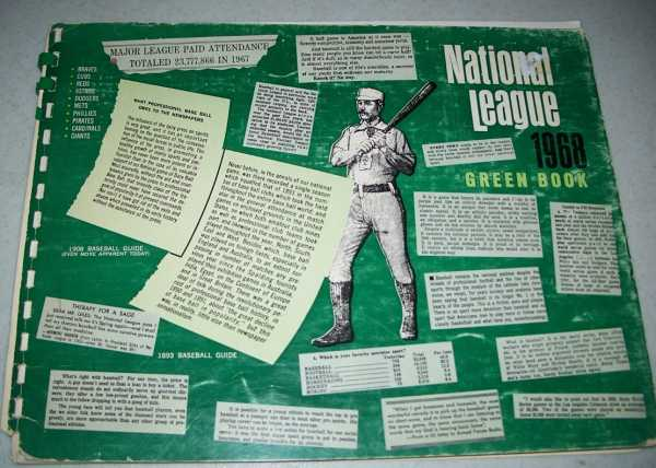 1968 National League Green Book, Grote, Dave (ed.)