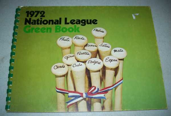 1972 National League Green Book, Grote, Dave (ed.)