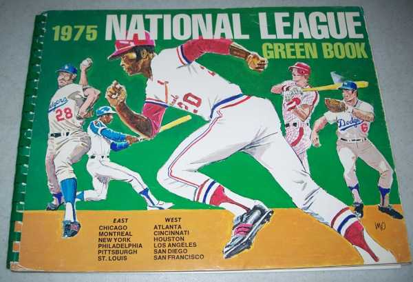 1975 National League Green Book, Grote, Dave (ed.)