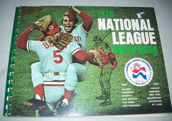 1976 National League Green Book, Grote, Dave (ed.)