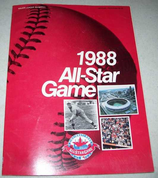 1988 Baseball All-Star Game Program, N/A