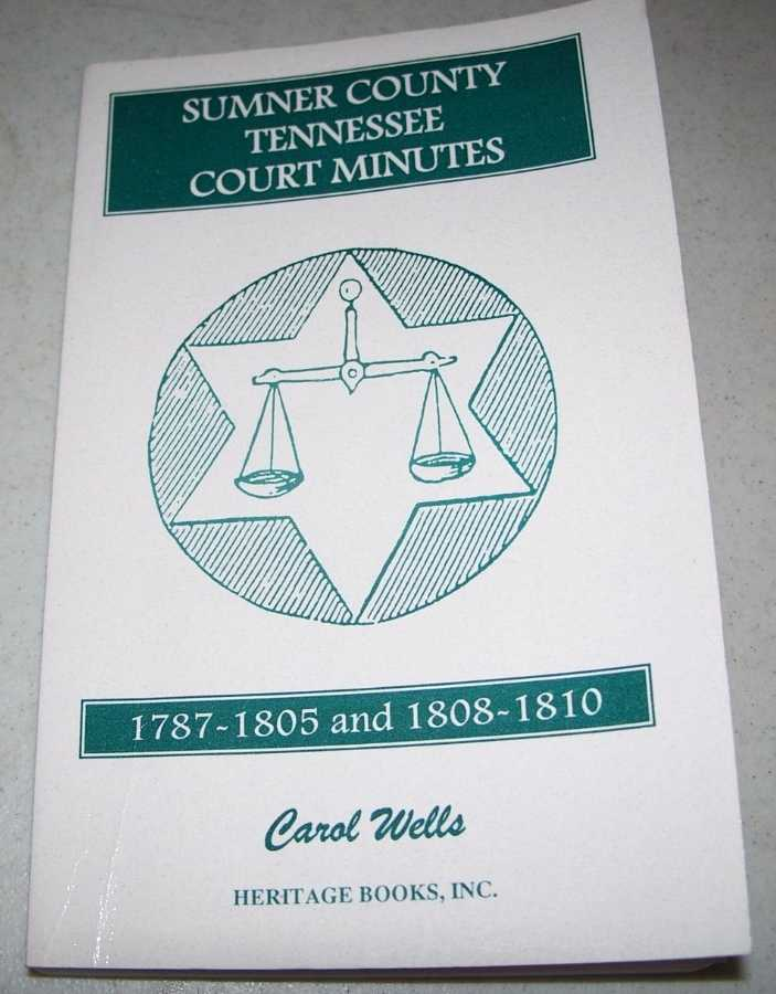 Sumner County, Tennessee Court Minutes 1787-1805 and 1808-1810, Wells, Carol