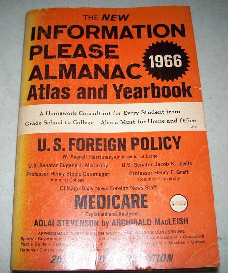 The New Information Please Almanac Atlas and Yearbook 1966, Golenpaul, Dan (ed.)