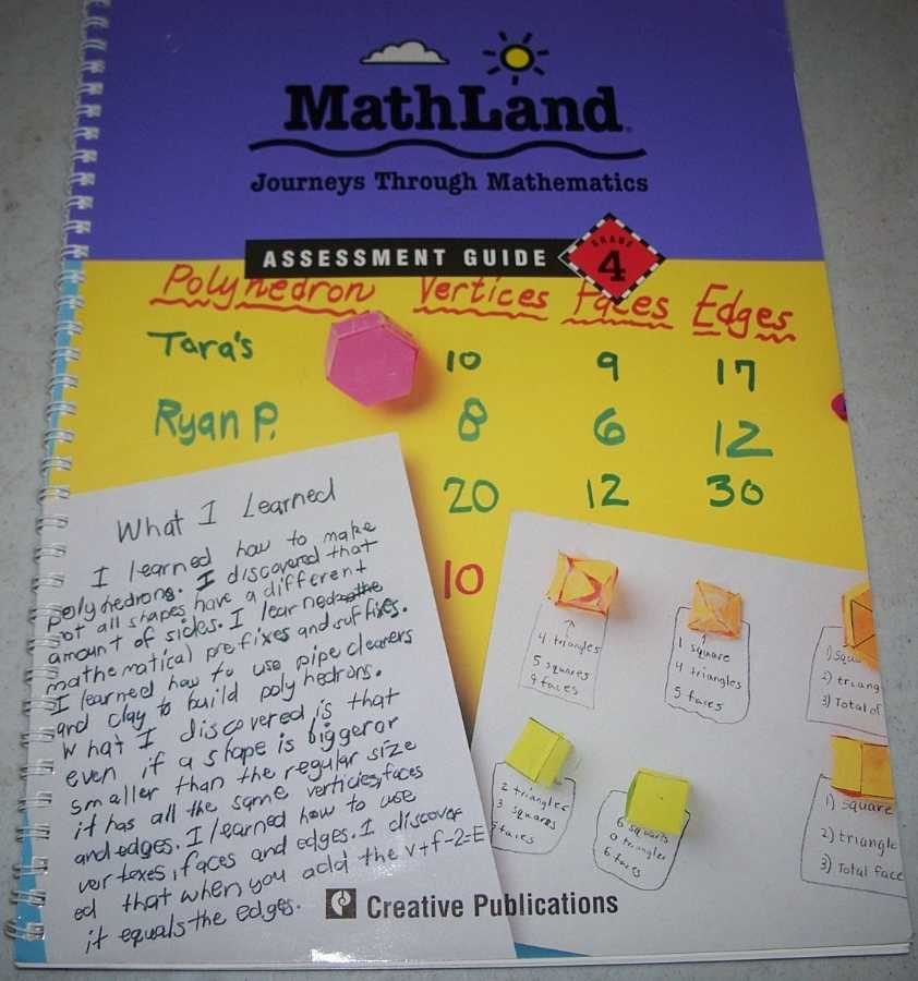 MathLand Journeys Through Mathematics Assessment Guide Grade 4, Various