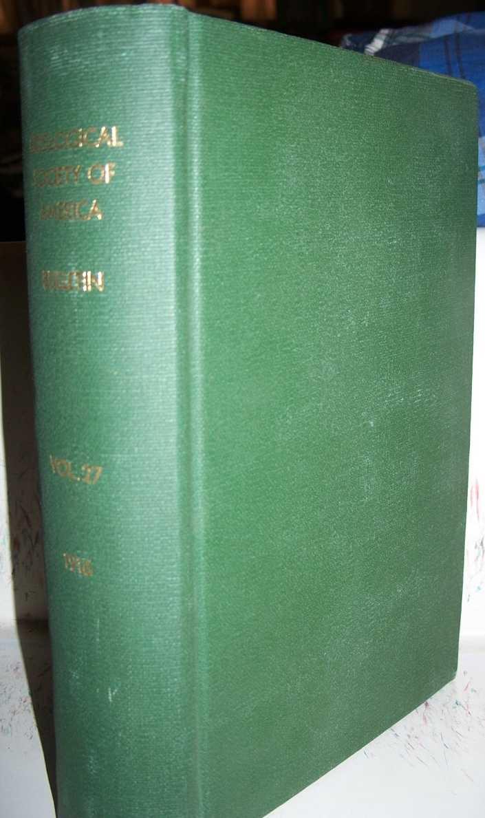 Bulletin of the Geological Society of America Volume 27, Stanley-Brown, Joseph (ed.)