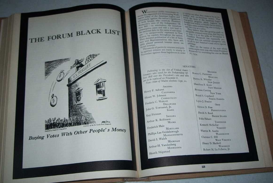 The Forum Magazine Volume 92, July-December 1934, Bound in One Volume, Various