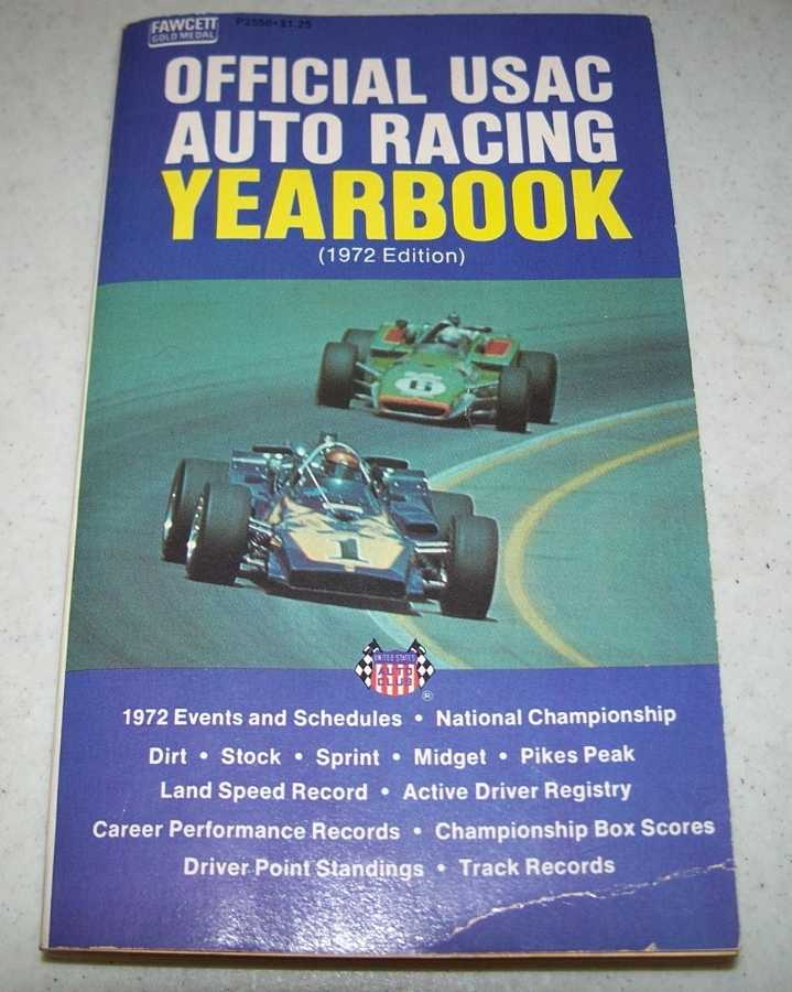 Official USAC Auto Racing Yearbook 1972 Edition, N/A