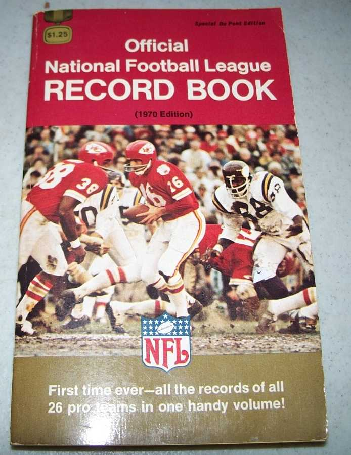 Official National Football League (NFL) Record Book 1970 Edition, N/A