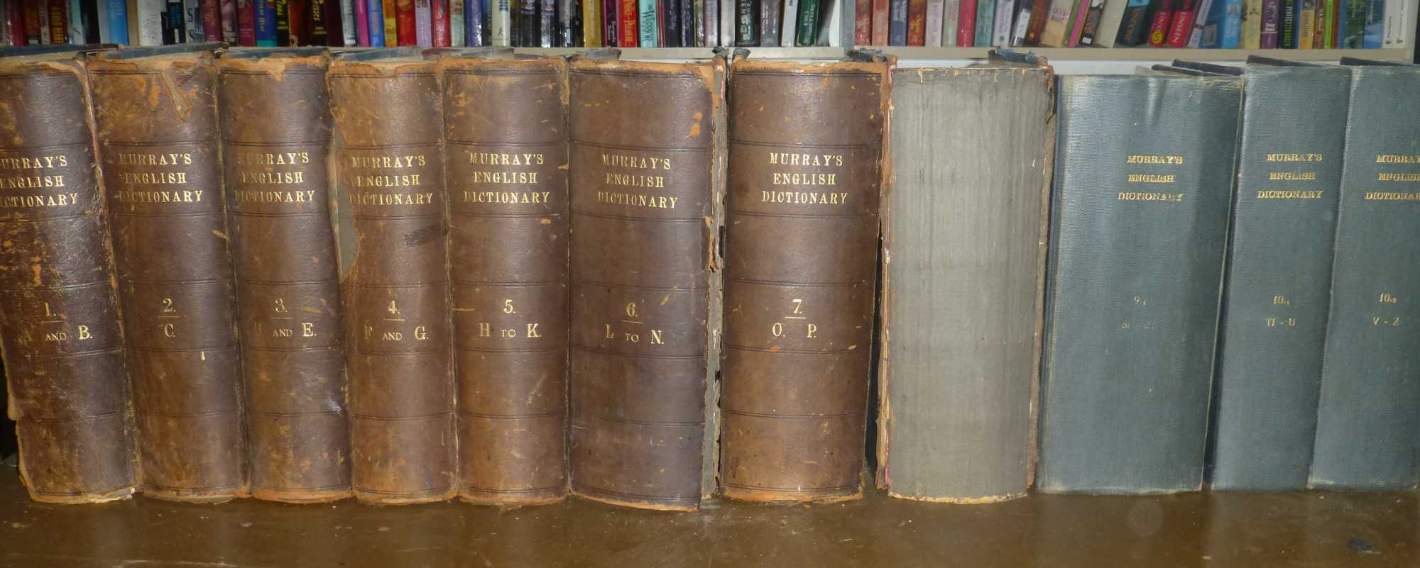 A New English Dictionary on Historical Principles Founded Mainly on the Materials Collected by the Philological Society Complete in Ten Volumes (11 Books), Murray, James A.H. (ed.)