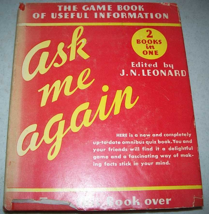 Ask Me Again! The Second Omnibus Question Book, Leonard, J.N.