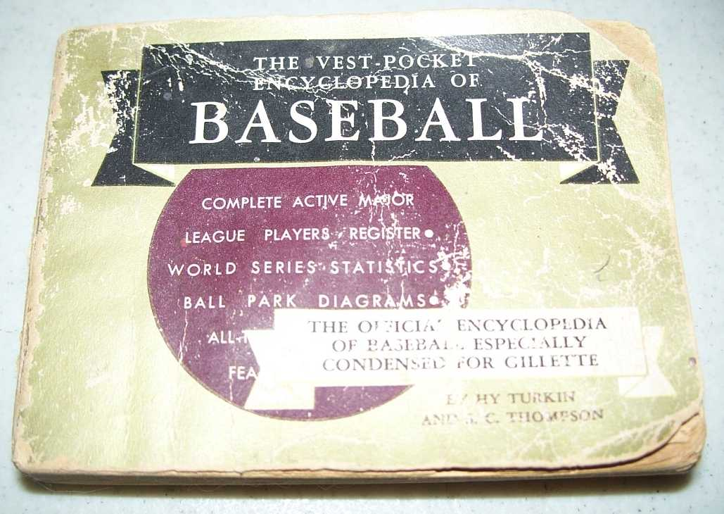 The Vest Pocket Encyclopedia of Baseball, 1956 Edition, Turkin, Hy and Thompson, S.C.