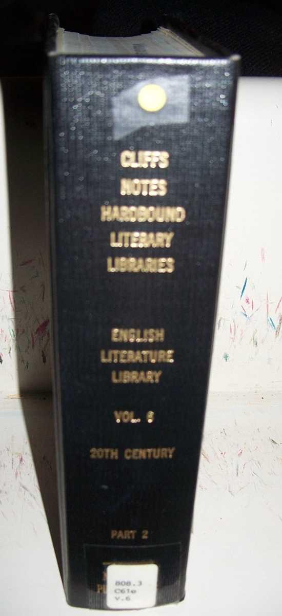 Cliffs Notes Hardbound Literary Libraries: English Literature Library Volume 6, 20th Century, Part 2, 10 Titles, N/A