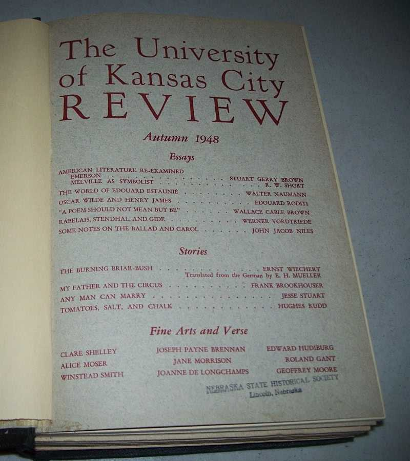 The University of Kansas City Review Volume XV & XVI, 1948-1950 (8 Issues Bound Together), Various