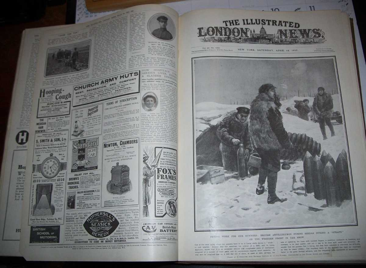 The Illustrated London News January 6, 1917-June 30, 1917 Bound Together, N/A