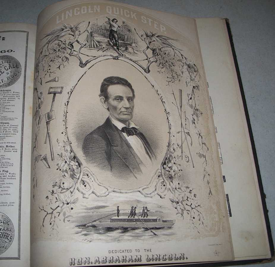 Collection of Civil War Sheet Music Bound together, including When Sherman Marched Down to the Sea; Lincoln Quick Step; General Grant's Grand March; Rest, Noble Chieftain, Song on the Death of President Lincoln and more (34 pieces), Various