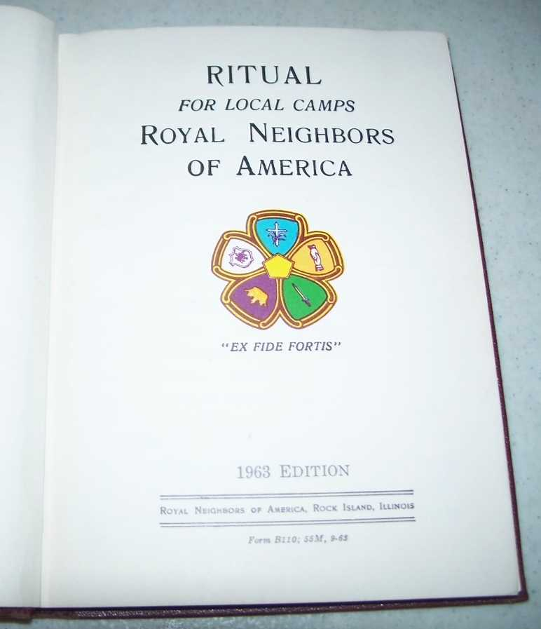 Ritual for Local Camps Royal Neighbors of America, 1963 Edition, N/A