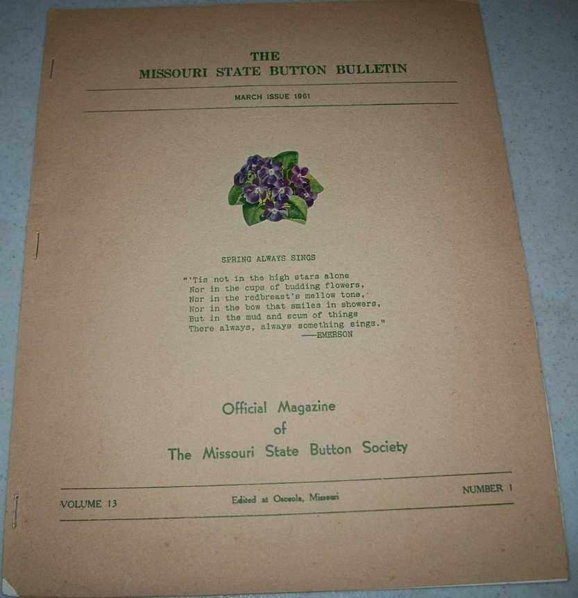 The Missouri State Button Bulletin March 1961, N/A