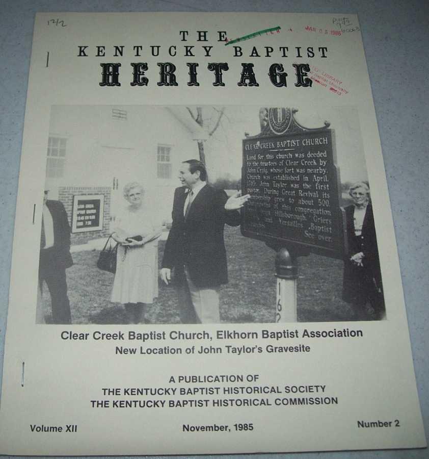 The Kentucky Baptist Heritage November 1985, N/A