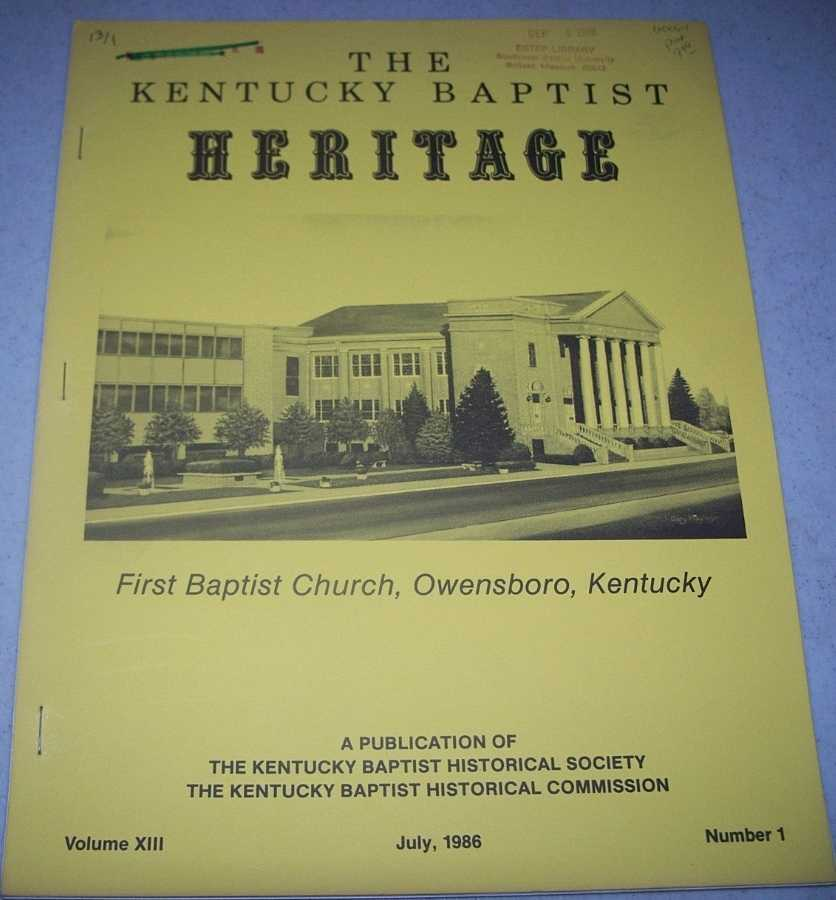 The Kentucky Baptist Heritage July 1986, N/A