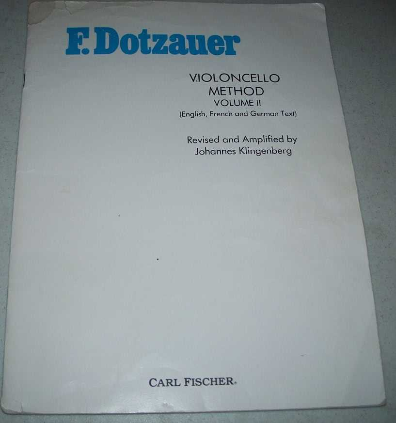 F. Dotzauer Vioncello Method Volume II (English, French and German Text), Dotzauer, F.; Klingenberg, Johannes (revised)