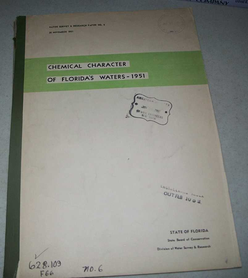 Chemical Character of Florida's Water 1951 (Water Survey & Research Paper No. 6), Black, A.P. and Brown, Eugene
