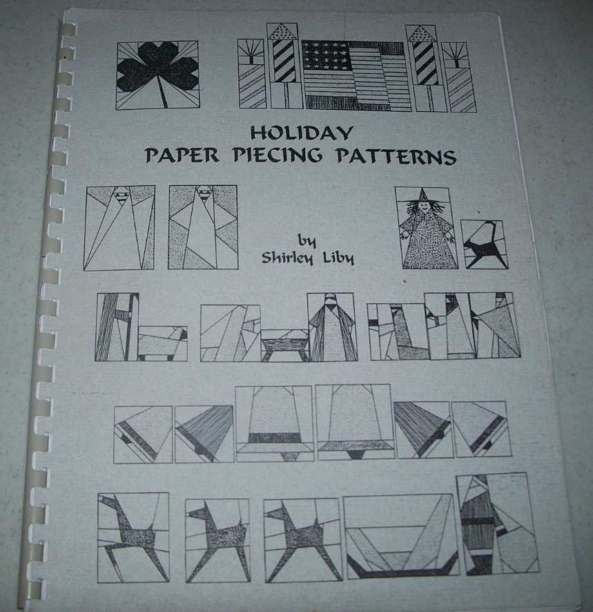 Holiday Paper Piecing Patterns, Liby, Shirley