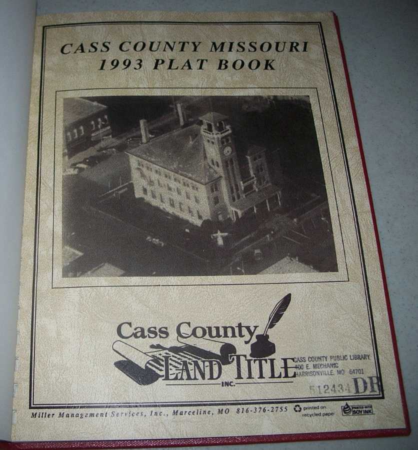 Cass County Missouri 1993 Plat Book, N/A