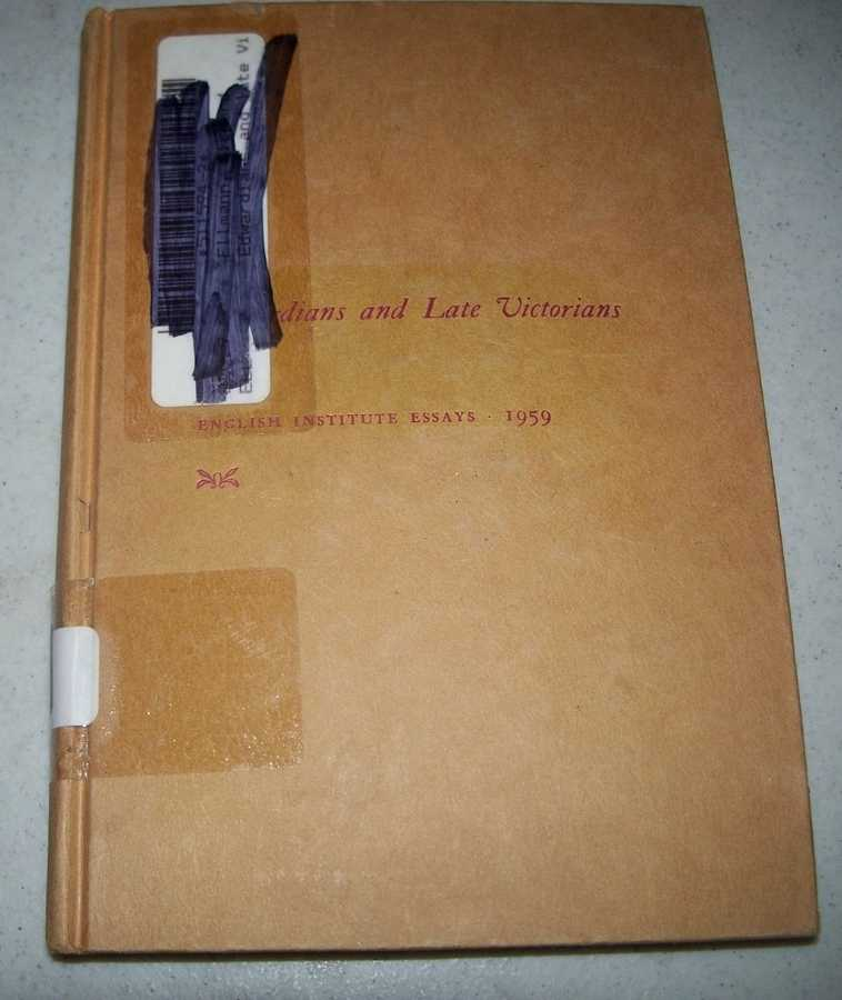 Edwardians and Late Victorians: English Institute Essays 1959, Ellman, Richard (ed.)