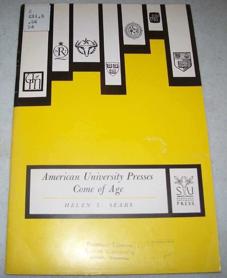 American University Presses Come of Age, Sears, Helen L.
