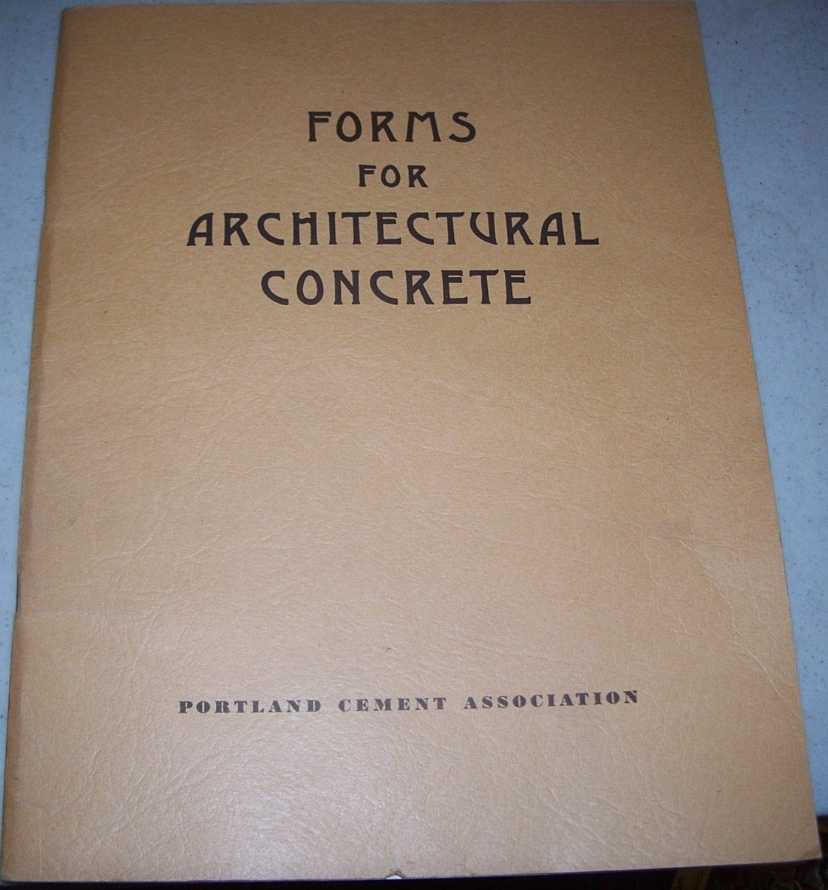 Forms for Architectural Concrete, N/A