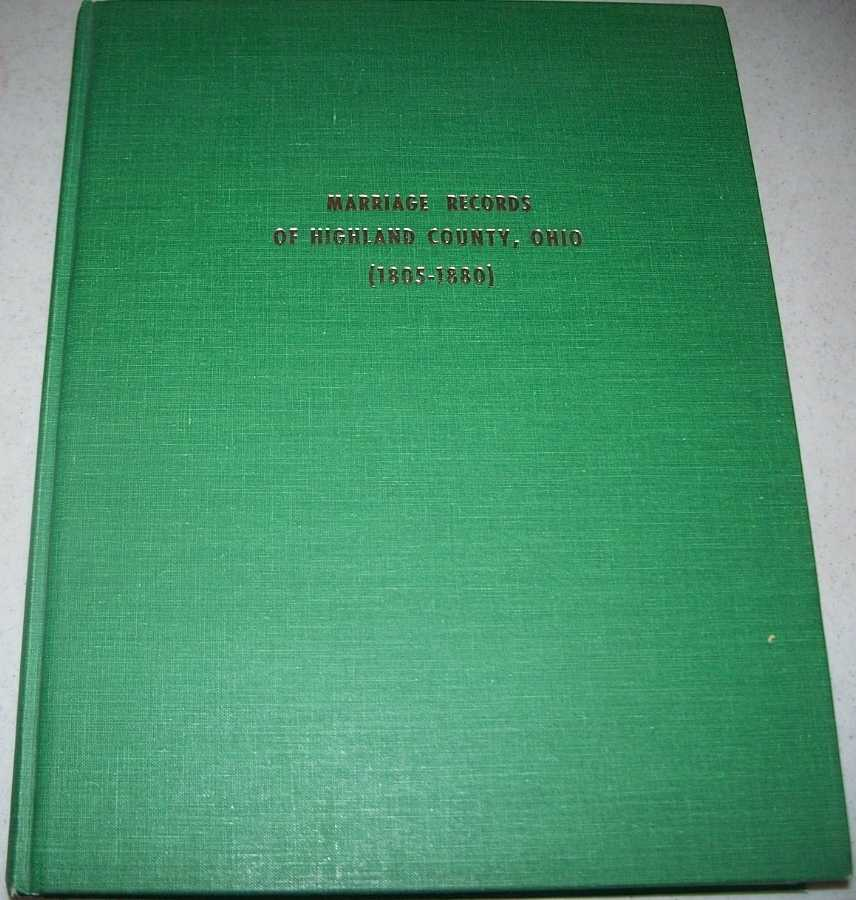 Marriage Records of Highland County, Ohio 1805-1880, McBride, David N. and Jane N.
