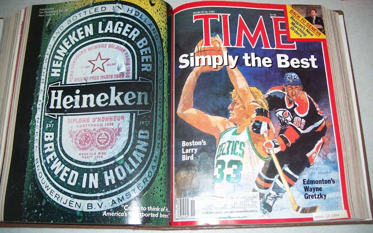 Time Magazine January-April 1985, 17 issues bound in one volume, N/A