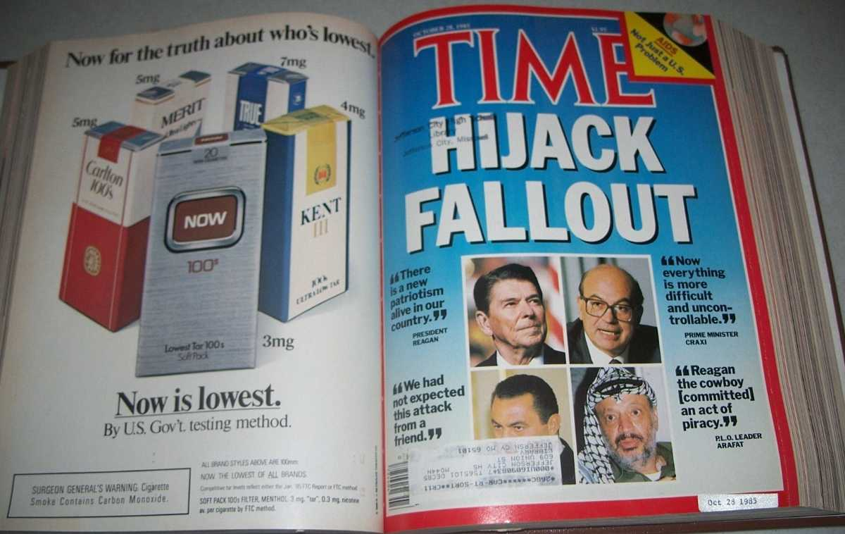 Time Magazine September-December 1985, 18 issues bound in one volume, N/A