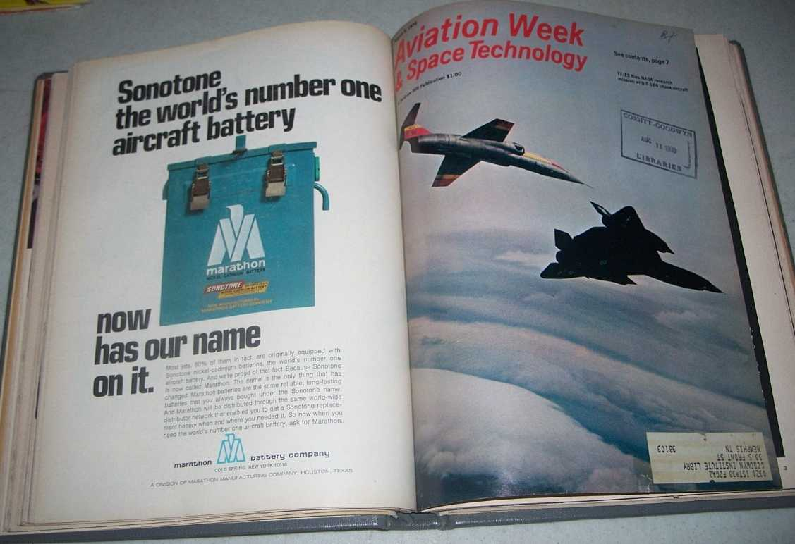 Aviation Week & Space Technology Magazine July-August 1970 Bound Together, N/A